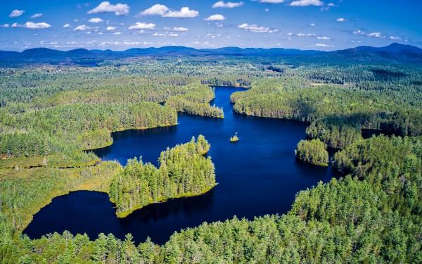 Mile-long Chain Lake - the crown jewel