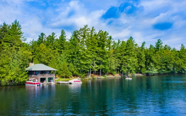 Camp Iroquois boathouse