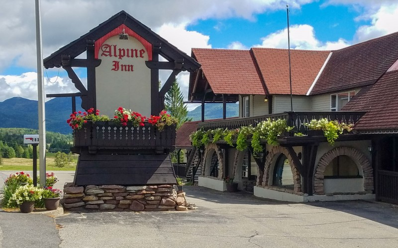Alpine Inn sign - Lake Placid, NY
