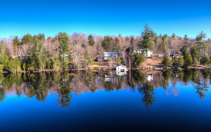 View of Lake Flower in Saranac Lake