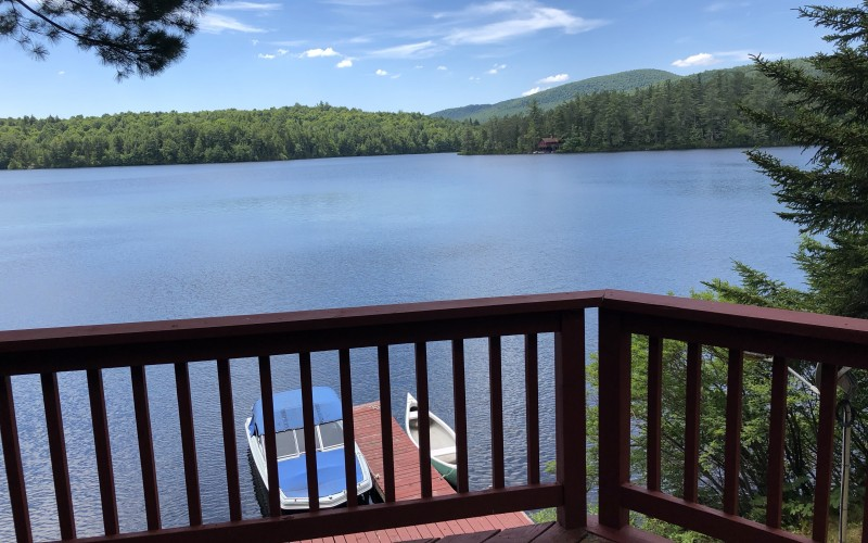 Loon lake view from deck