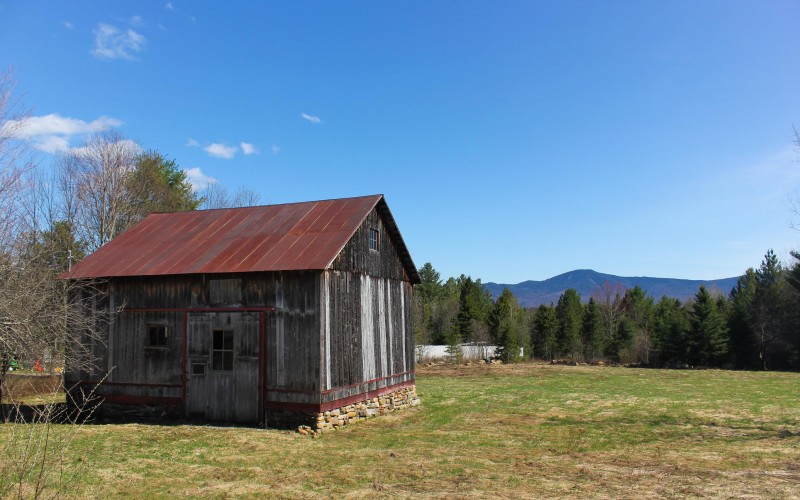 Historic barn, with views of Moose Mountain