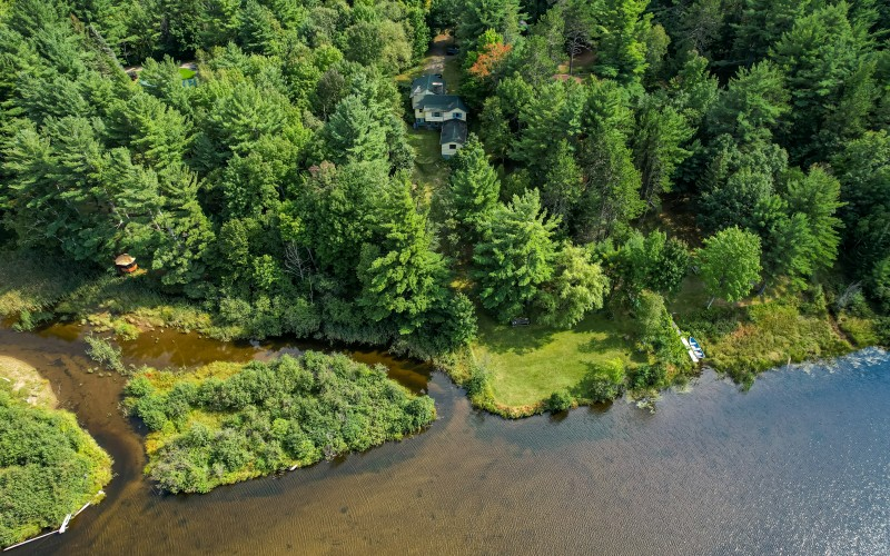 Aerial View of Cabin