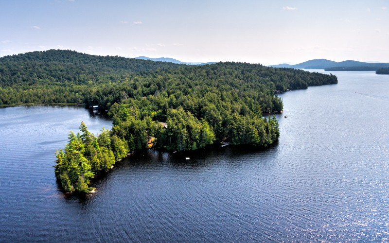 East side of the narrows of Upper Saranac Lake