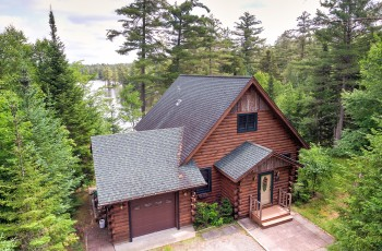 Rainbow Lake Log Home - Rainbow Lake, NY